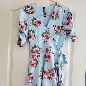 Design Lab Lord & Taylor Blue Floral Dress